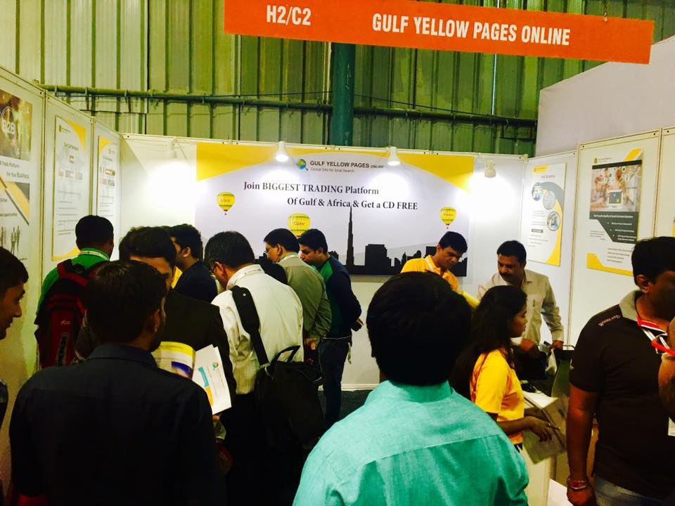 Gulf Yellow Pages Team in Plastivision Mumbai Exhibition
