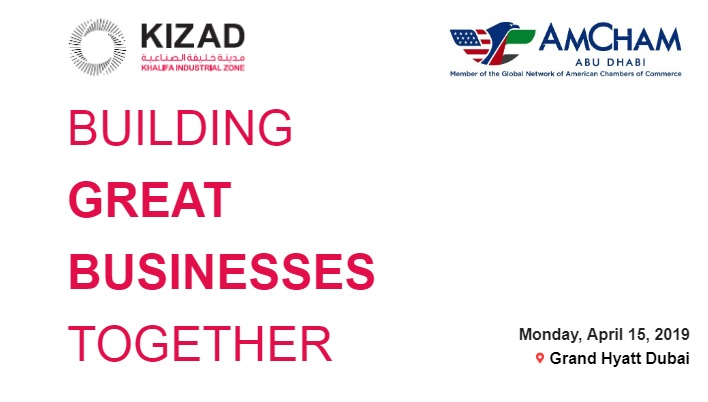 Exclusive Inter-Business Council Networking Event with KIZAD, April 15, 2019
