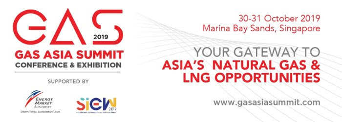 Book your exhibition stand at the 2019 Gas Asia Summit in Singapore